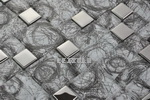 Mixed Material Mosaic - Glass With Metal Mosaic