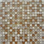 Mixed Material Mosaic - Glass With Stone Mosaic