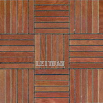Rustic Tile Mosaic - Wooden Texture Mosaic